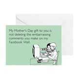Embarrassing Facebook Comments Greeting Card
