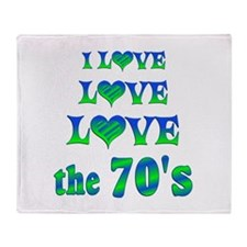 Love Love 70s Throw Blanket
