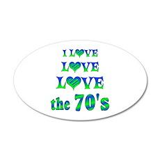 Love Love 70s 20x12 Oval Wall Decal