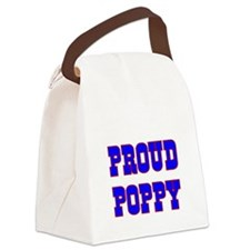 Proud Poppy Canvas Lunch Bag