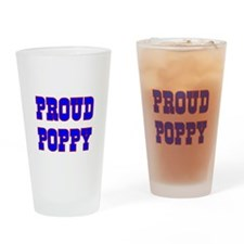 Proud Poppy Drinking Glass