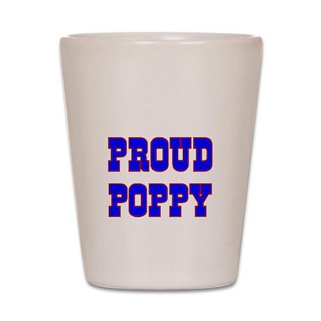 Proud Poppy Shot Glass