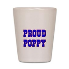 Proud Poppy Shot Glass