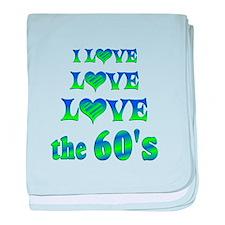 Love Love 60s baby blanket