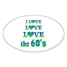 Love Love 60s Decal