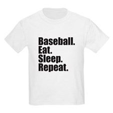 Baseball Eat Sleep Repeat T-Shirt
