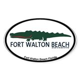 Fort Walton Beach - Alligator Design. Decal