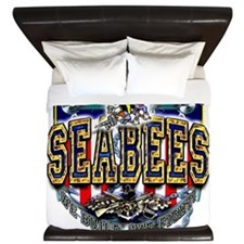 US Navy Seabees Shield King Duvet