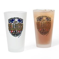 US Navy Seabees Shield Drinking Glass