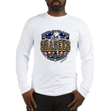 US Navy Seabees Shield Long Sleeve T-Shirt