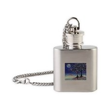 Boston Terrier love hearts Flask Necklace