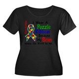Means World To Me 4 Autism Plus Size T-Shirt