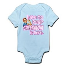 have no fear supermom is here funny Body Suit