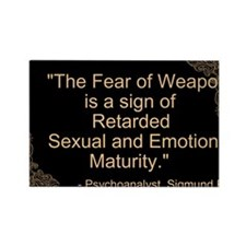 Fear of Weapons Rectangle Magnet (10 pack)