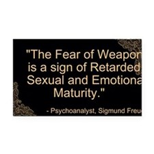Fear of Weapons Rectangle Car Magnet