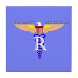 US Air Force Pharmacy Tech Tile Coaster