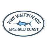 Fort Walton Beach - Fishing Design. Decal