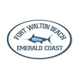Fort Walton Beach - Fishing Design. Wall Decal