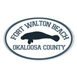 Fort Walton Beach - Manatee Design. Decal