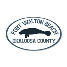 Fort Walton Beach - Manatee Design. Wall Decal