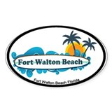 Fort Walton Beach - Surf Design. Decal
