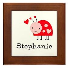 Ladybug (p) Framed Tile