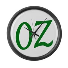 OZ in Green Large Wall Clock