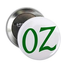 """OZ in Green 2.25"""" Button (10 pack)"""