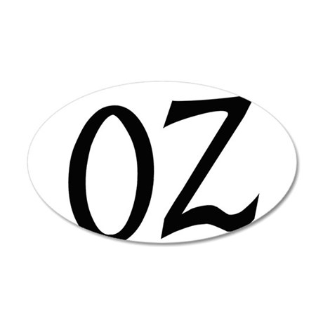 Oz in Black Wall Decal