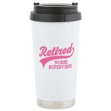 Retired Nurse Supervisor Ceramic Travel Mug