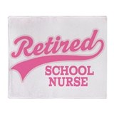 Retired School Nurse Throw Blanket