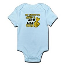 Me and Grand Pa are like this Infant Bodysuit