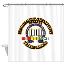 3rd Battalion, 7th Infantry Shower Curtain