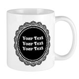 CUSTOM TEXT Gothic Round Small Mug