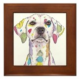 Rainbow Dalmation Framed Tile