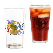 Unique Simpson Drinking Glass