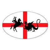 St George's Day Rectangle Decal