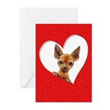 Chihuahua Heart Greeting Cards (Pk of 20)