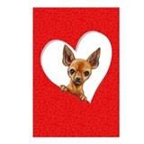 Chihuahua Heart Postcards (Package of 8)