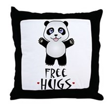 Free Panda Hugs Throw Pillow