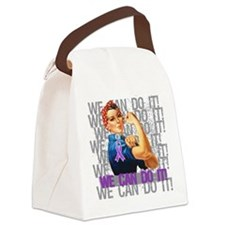 Rosie The Riveter Sarcoidosis Canvas Lunch Bag
