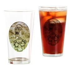 Cartoon Zombie Drinking Glass
