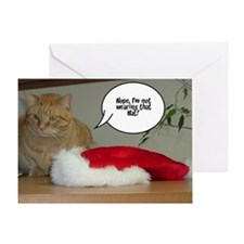 Christmas Orange Tabby Cat Greeting Card