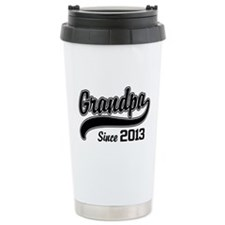 Grandpa Since 2013 Ceramic Travel Mug