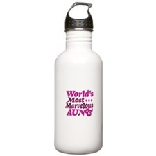 Worlds Most Marvelous Aunt Water Bottle