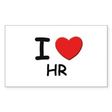 I love hr Rectangle Decal