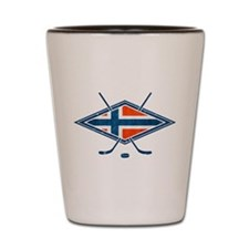 Norsk Ishockey Flag Shot Glass