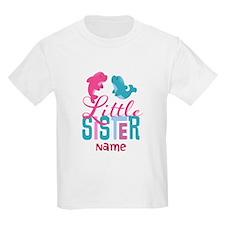 Add Name Little Sister Print T-Shirt