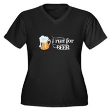I run for Beer Plus Size T-Shirt
