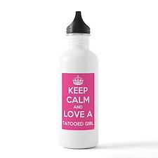Love a tattooed girl Water Bottle
